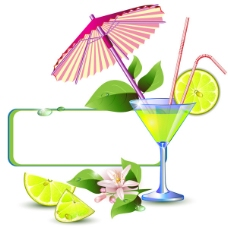 果汁饮料对话框矢量素材