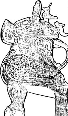 青铜器皿纹路图图片