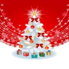 飘雪圣诞树背景