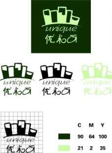 优米可 寿司 绿色 可爱 设计标准图图片