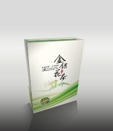 金银花茶盒(平面图)图片