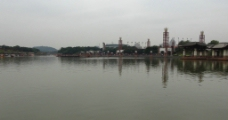 湖中景色图片