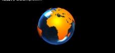 地球自转模板图片