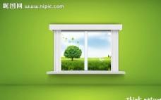 窗户 自然风景图片