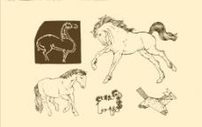 动物图案 马图片