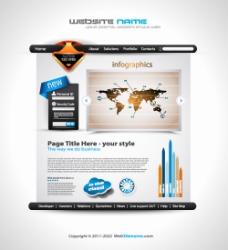 矢量网页界面商务背景素材