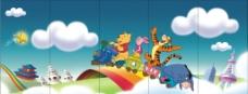 幼儿园墙面贴画图片