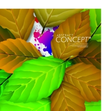 矢量绿叶精美设计背景素材