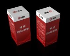 防脱生发液包装盒(展开图)图片