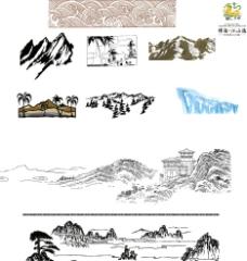 矢量山水图片