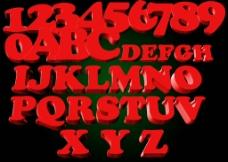 立体字母素材图片