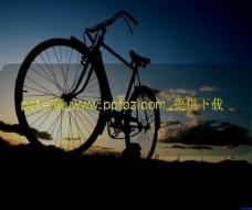 自行车旅行ppt模板
