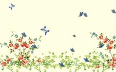 蝶恋花背景墙纸图片