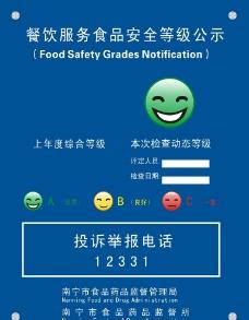 食品安全等级公示图片