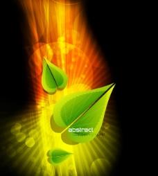 矢量创意光斑树叶背景素材
