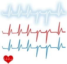 心跳 脉搏 线条图片