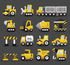 重型车推土机交通工具图标