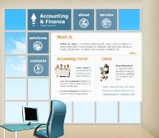 金融会计分析网页模板图片