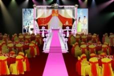 婚礼舞台布置效果图图片