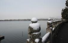 雪中昆明湖玉泉山图片