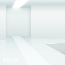 矢量白色灯光空间背景