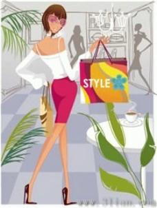 時尚購物女人