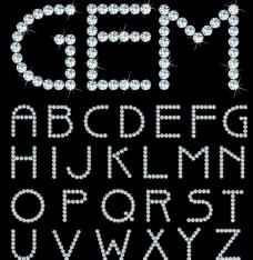 钻石字母图片