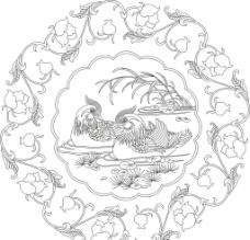 鸳鸯牡丹图片