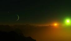 宇宙山脉图片