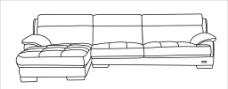 沙发线图图片
