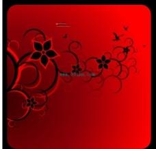 矢量红色背景边框