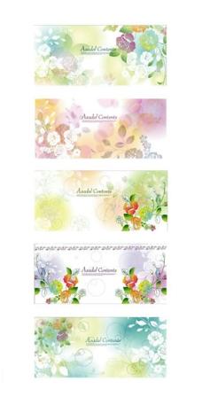精美花卉花纹背景
