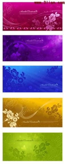 多款梦幻花朵花纹 背景素材
