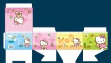 卡通猫文具包装盒子图片