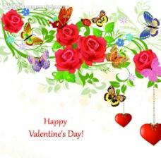 玫瑰花情人节背景图片