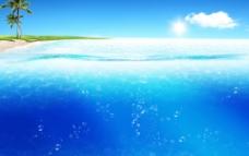 蓝色海水图片