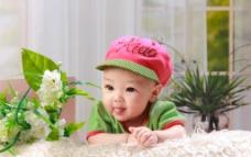 红帽子宝宝图片