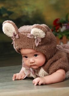 趴着的宝宝图片
