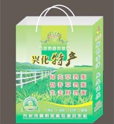 绿壳草鸡蛋手提袋(展开图)图片