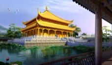 梵净山佛教文化金殿设计图图片