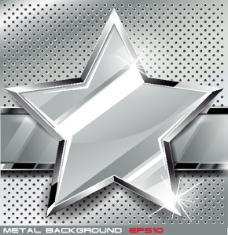 五角星金属质感背景