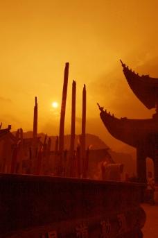 寺庙香炉图片