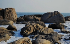 北戴河的石滩图片