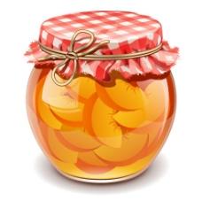 黄桃果酱包装设计