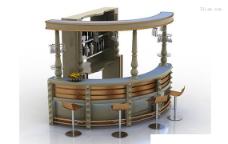 3d酒吧吧台模型