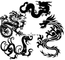 传统中国龙画笔工具