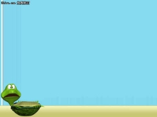 翻倒的乌龟卡通PPT模板