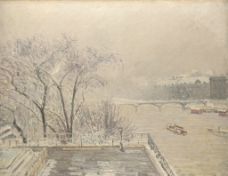毕莎罗 雪中的卢浮宫图片