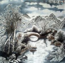 冬闲湖居图片