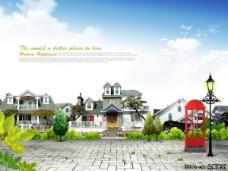 高档豪宅别墅地产广告PSD分层素材